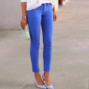 J. Crew Cobalt Blue Toothpick Ankle Jeans